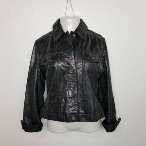 Vintage Hugo Buscati Leather Button Jacket